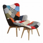 Replica Patchwork Featherston Lounge Chair (with Ottoman)